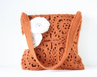 Crochet bag Orange