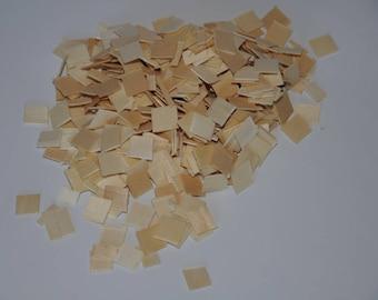 Set of 500 mosaics made of wood, natural