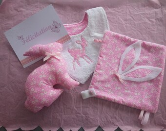 newborn pink baby girl set