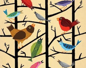 iOTA iLLUSTRATION - For All The Birds - illustrated Limited Edition - kids Animal Art Print
