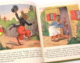 Uncle Wiggily and His Friends, Howard Garis Uncle Wiggily Book, Platt & Munk, Children's Book 1955, Uncle Wiggly Book Uncle Wiggily Longears