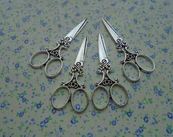 15 pcs of antique silver color metal scissors pendant charm , 60*25mm , MP246