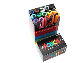 Uni Posca PC-5M Paint Marker - Medium Point - 15 Color Box Set