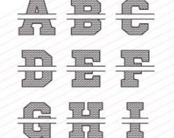 Chevron Monogram Letter with Name