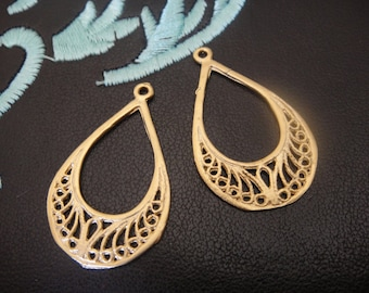 2PC 18k gold over 925 sterling silver earring finding, vermeil earring component , earrings 2 pc.