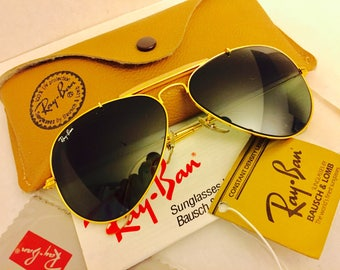 vintage New old stock Ray Ban sunglasses Green G15  58mm  usa Bausch & lomb