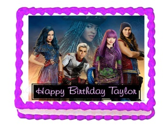 Disney Descendants 2 party decoration edible cake image cake topper frosting sheet