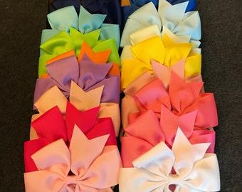Set of 20 Nylon Baby Headband, Big Bow Headbands, Baby Bows, Nylon Headband, Large Bow Baby Headband, Baby Nylon Headband