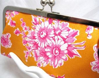 Coupon Organizer Cash Envelope System Tangerine Fushia Floral