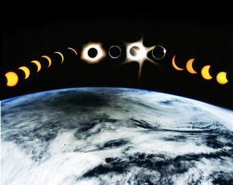 solar eclipse 2017, wall art, photography, space art