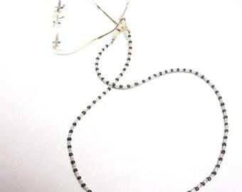 Eyeglass Lanyard White Silver