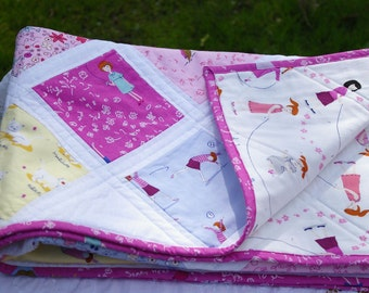 BABY QUILT, cot quilt, crib quilt, baby blanket, playmat, baby gift, baby shower gift, patchwork quilt
