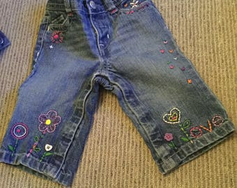 Love my jeans. Hand embroidered and the cutest ever