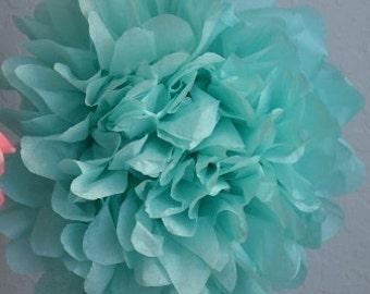 1 LARGE-AQUA Pom Pom kit- tissue paper poms // diy // wedding decoration // baby shower // party decor