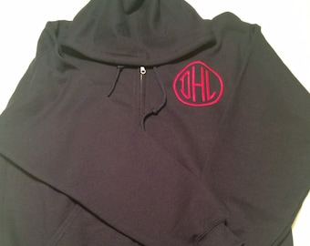 Adult Zip Hoodie with Monogram