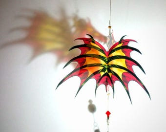 3D Red or Pink Dragon Sun Catcher