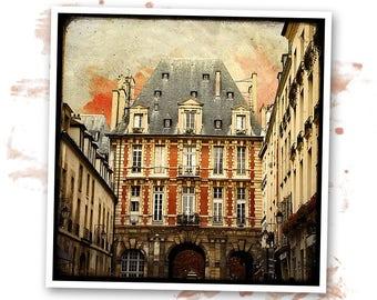 Place des Vosges - Paris - photo art signed 20x20cm