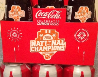 Clemson National Championship Coke Bottles and cans!!