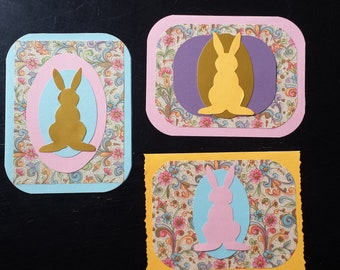 Set of 3 Easter Greeting Cards Blank