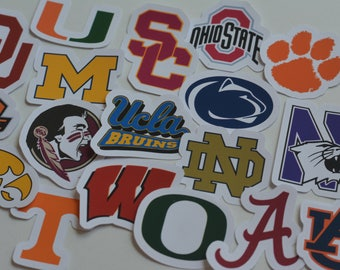 NCAA College Teams Vinyl Logos  Choose YOUR Team