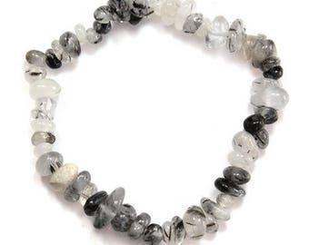 Baroque tourmalated quartz bracelet
