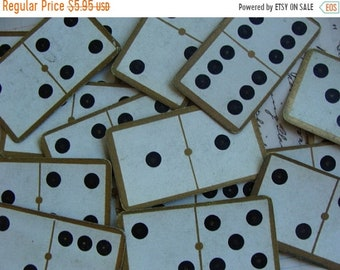 ONSALE 5 Stunning Antique Rare Victorian  Domino Cards from the 1800s