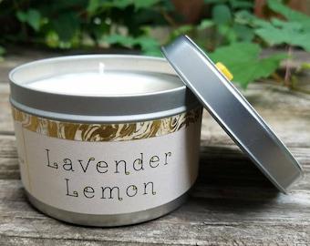 Lavender Lemon natural soy candle