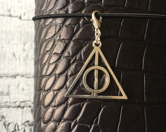 "Silver Deathly Hallows Wizard Planner Charm TN Travelers Notebook 1.75"" Tall"