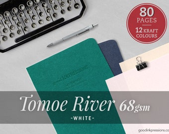 80 pages- 68gsm Tomoe River White, Traveler's Notebook   Bullet Journal   Scrapbooking Fountain Pen Watercolor A5 Regular B6 Slim A6