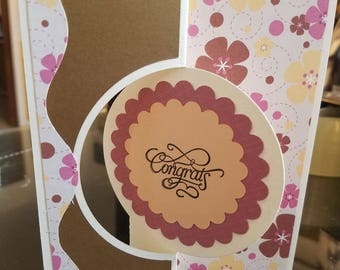 Handmade congratulations card you did it inside so you can write whatever you want happy birthday I love you any occasion