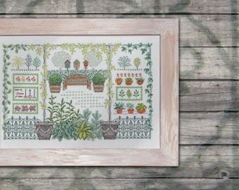 My Aunties Garden - cross stitch pattern download
