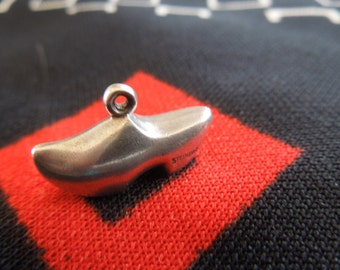 Sterling Dutch Shoe Charm Vintage Figural Dutch Clog Charm Sterling Silver Charm for Bracelet from Charmhuntress  02772