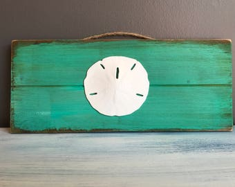 Sand Dollar Accent, Beach Decor, Home Decor, Wood Sign, Wall Hanging