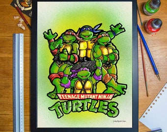 Teenage Mutant Ninja Turtles A3 Print