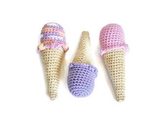 Ice Cream Cones - set of 3