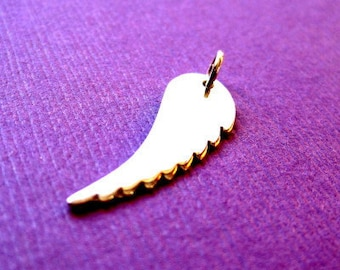 Sterling Silver Angel Wing Stamping  Charm