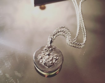Handmade Sterling Silver Large Crest Pendant Necklace - Item in stock for quick delivery