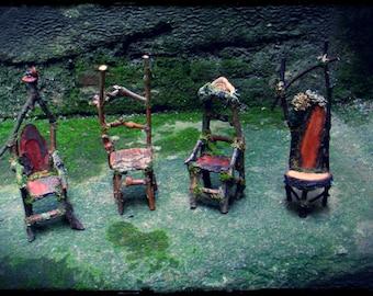 Twig Faery Chair Miniature Custom