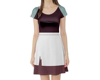 READY-TO-SHIP Maid Cinderella Inspired Short Sleeve Skater Dress