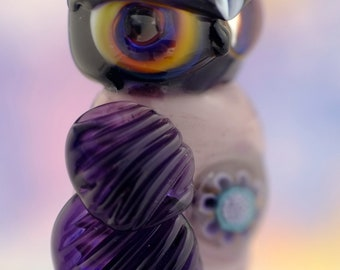 Cristina.... lampwork owl  bead............ sra