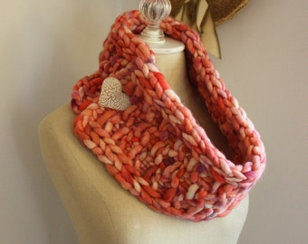 Knitting Pattern / Neckwarmer Cowl Scarf Chunky Textured Super Bulky / Brique / PDF Digital Delivery