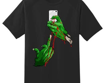 Zombie selfie tee shirt 05302016