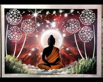 Buddha - Spray Paint Art