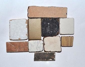 Brown Black White Sea Pottery Shards, Sea Tiles for Mosaics, Beach Tiles Bulk, Mosaic Supplies, Craft Supplies, Sea Ceramics