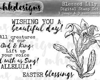 Blessed Lily Digital Stamp Set