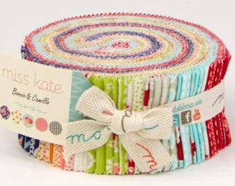 "Miss Kate Jelly Roll - 2.5"" Strips - Bonnie and Camille - Moda - Jelly Roll - IN STOCK"