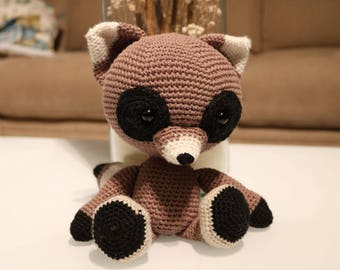 Raccoon Amigurumi Doll Crochet doll Raccoon crochet doll handmade