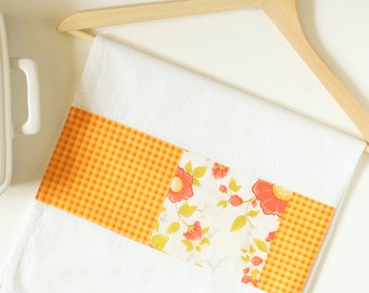 Kitchen Towel in Daydream Floral and Orange Gingham