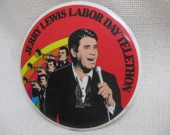 Vintage Jerry Lewis Telethon Button