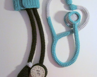 Stethoscope and Blood Pressure Cuff Toys PDF Crochet Pattern